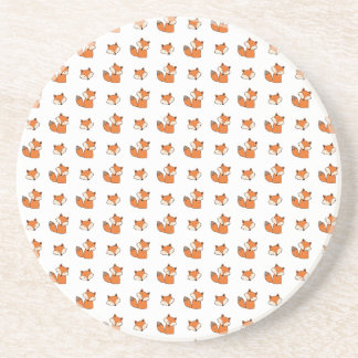 red foxes pattern coaster