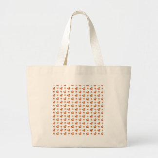 red foxes pattern large tote bag