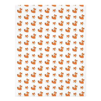 red foxes pattern letterhead