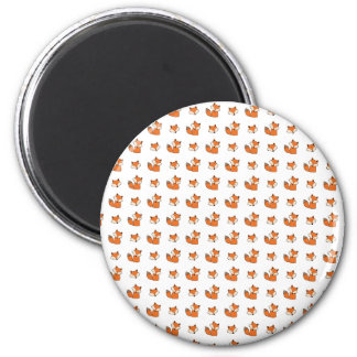 red foxes pattern magnet