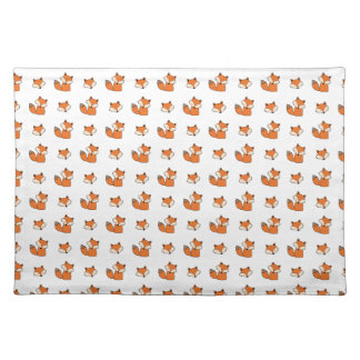 red foxes pattern placemat