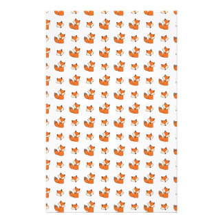 red foxes pattern stationery