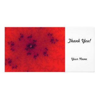 Red Fractal Custom Photo Card