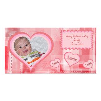Red Fractals Valentine Photo Card
