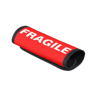 Red Fragile Label Luggage Handle Wrap