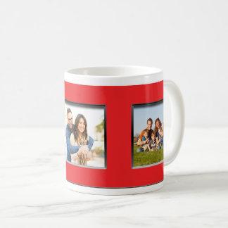 Red Frame Three Photo Mug