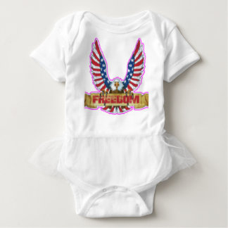 Red Freedom Eagle Banner Baby Bodysuit