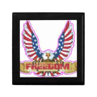 Red Freedom Eagle Banner Gift Box