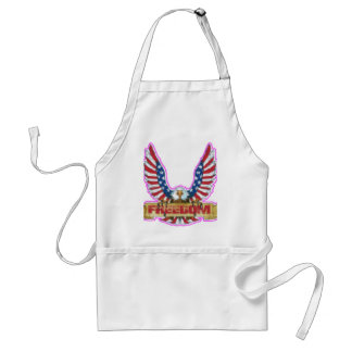 Red Freedom Eagle Banner Standard Apron