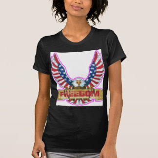 Red Freedom Eagle Banner T-Shirt