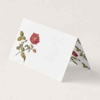 Red French Rose Birthday Party Table Place Card