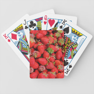 Red Fresh Strawberries Design Poker Deck