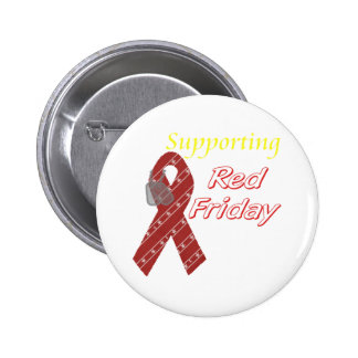 Red Friday 2 Inch Round Button