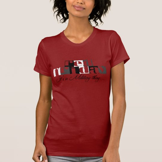 Red Friday Air Force Wife T-Shirt