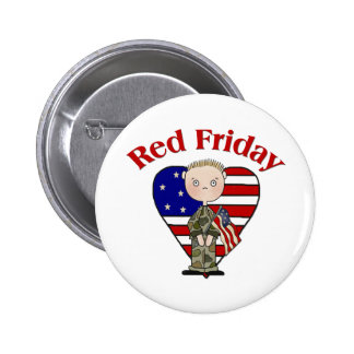 Red Friday Army Male 2 Inch Round Button