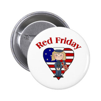 Red Friday Female 2 Inch Round Button