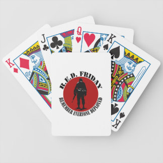 RED FRIDAY - REMEMBER EVERYONE DEPLOYED BICYCLE PLAYING CARDS