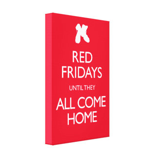 Red Fridays Vintage Military Canvas Prints