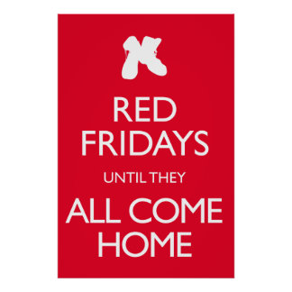 Red Fridays Vintage Military Poster