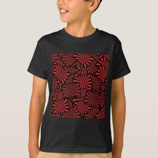 Red Fringe Fan Kite Design T-Shirt