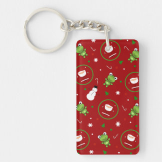 Red frogs santa claus snowmen acrylic keychains