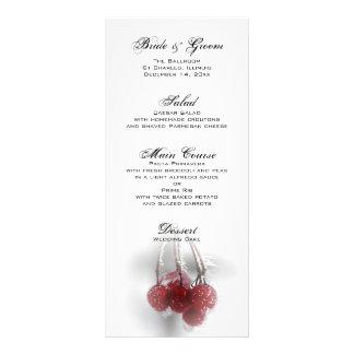 Red Frosty Berries Winter Wedding Menu