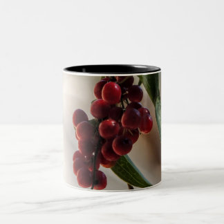 Red fruit Two-Tone coffee mug