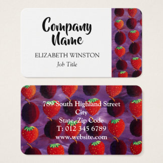 Red Fruits Business Card