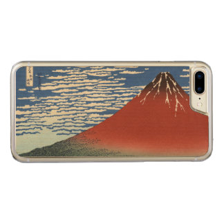 Red Fuji, South Wind, Clear Sky Hokusai GalleryHD Carved iPhone 8 Plus/7 Plus Case
