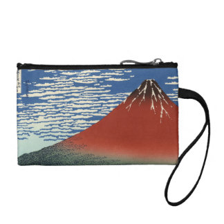 Red Fuji southern wind clear morning Coin Purse