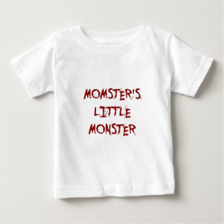 Red Funny Momster's Little Monster Halloween Shirts