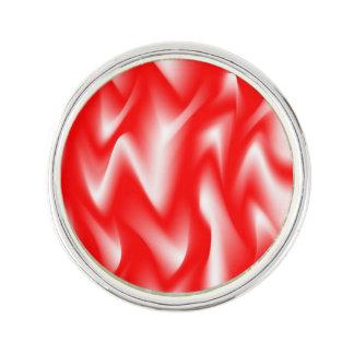 Red Fury Zigzag Design Lapel Pin