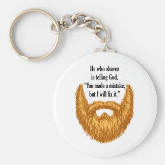 red fuzzy beard keychain