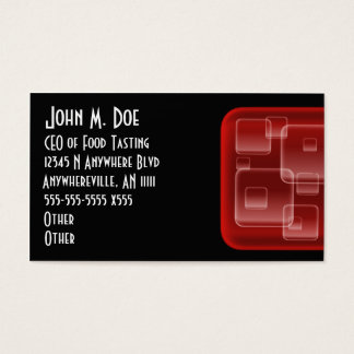 Red Gel Squares Business Card