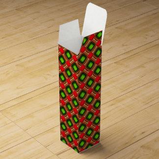 Red Gem Pattern Wine Gift Box
