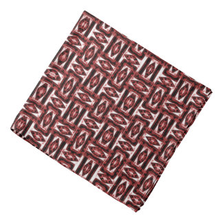 Red geometric abstraction pattern, symetric theme bandana