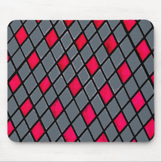 Red Geometric Diamond Pattern mousepad