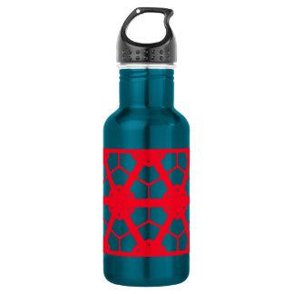 Red Geometric Pattern 4Lulu 532 Ml Water Bottle