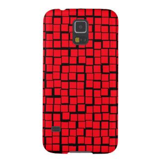 Red Geometric Pattern Galaxy S5 Case