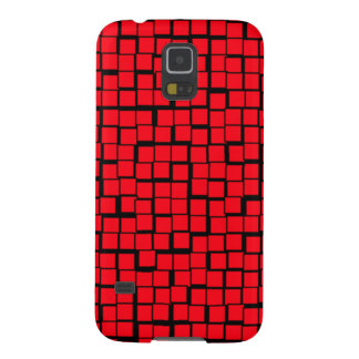 Red Geometric Pattern Galaxy S5 Cover