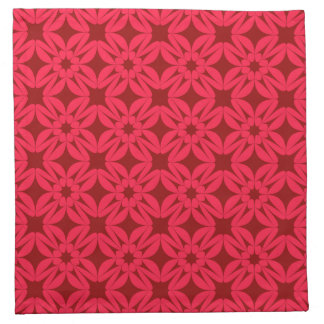 Red Geometric Pattern Napkin