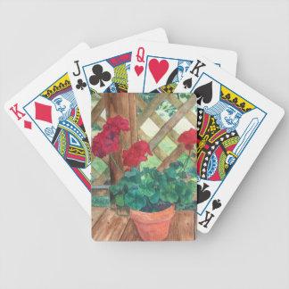 Red Geranium Poker Deck