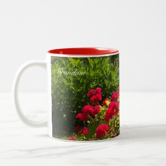 Red Geraniums Flower Garden Mug