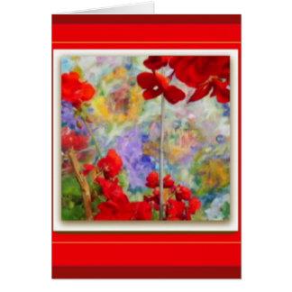 Red Geraniums Garden by Sharles Card