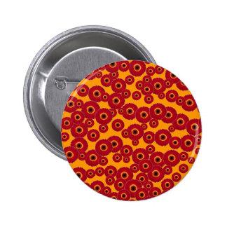 Red Gerber Daisies Pinback Buttons
