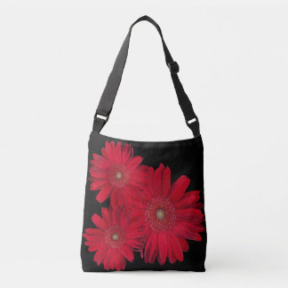 Red Gerber Daisy Close Up Photograph Crossbody Bag