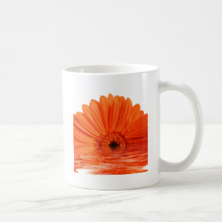 red gerbera classic white coffee mug