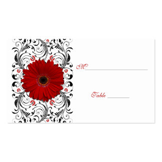 Red Gerbera Daisy Special Occasion Place Card Business Card