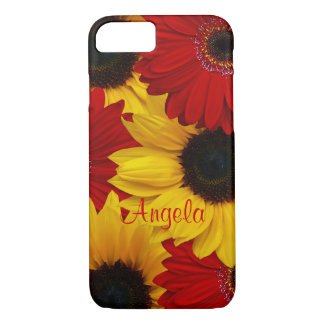 Red Gerbera Daisy Yellow Sunflower iPhone 8/7 Case