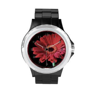 Red Gerbera dasiy flower Watch